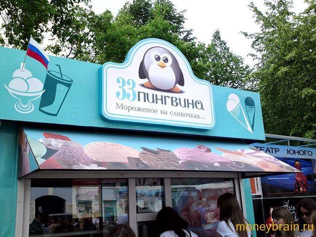 Франшиза 33 пингвина стоимость