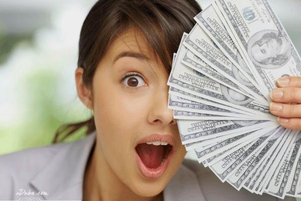 мыслите позитивно при обращение с деньгами