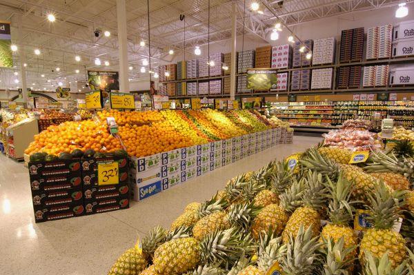 Оформление витрины овощей и фруктов