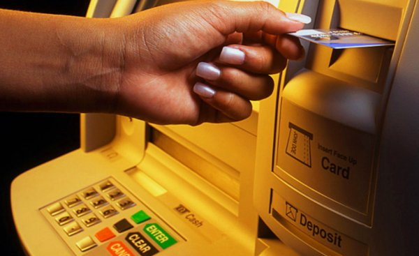 Подключения мобильного банка с помощью обычного банкомата